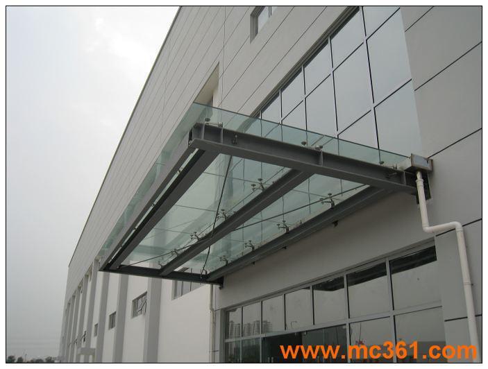 邯郸玻璃雨棚,玻璃雨罩厂家
