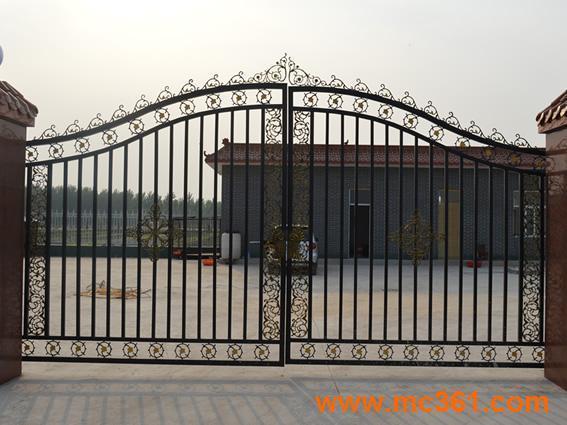 天津铁艺大门学校大门社区迎宾门凯旋门欧式大门