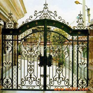 广州直销欧式铁艺大门,豪华别墅大门,围栏,防盗窗