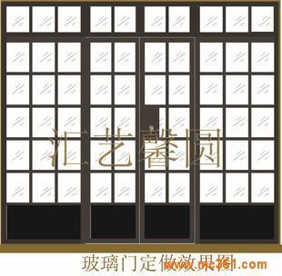 供应玻璃门老式玻璃欧式玻璃门铁艺玻璃门进户门