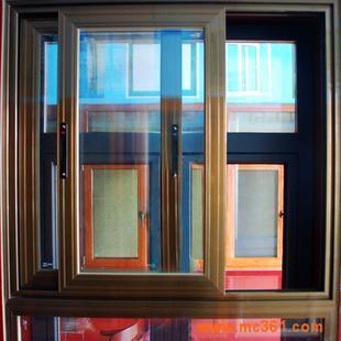 断桥铝封阳台 凤铝断桥铝平开窗 香槟色 推拉窗 封阳台产品图片集