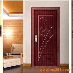 pvc工程木门 室内套装门 卧室门简约木门厂家直销代理
