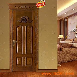 2014新款欧式富贵飞头雕花烤漆门深雕压线拼装门实木