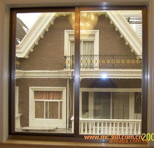 铝木门窗图片欣赏 香槟色门窗图片欣赏 铅合金门窗图片欣赏