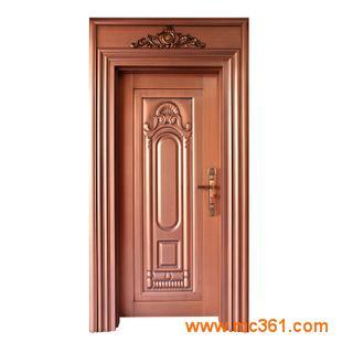 紫铜拉丝防盗门 安全门室内套装门