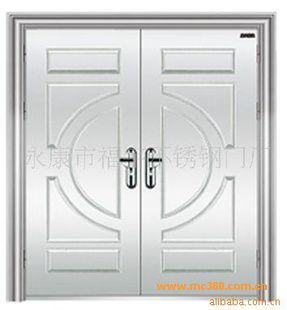 供应不锈钢欧式对开门(图)图片-永康市福宇不锈钢门