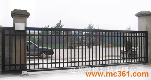 不锈钢铁艺电动直线门,围墙大门,红外线安全防撞平移门,电动门