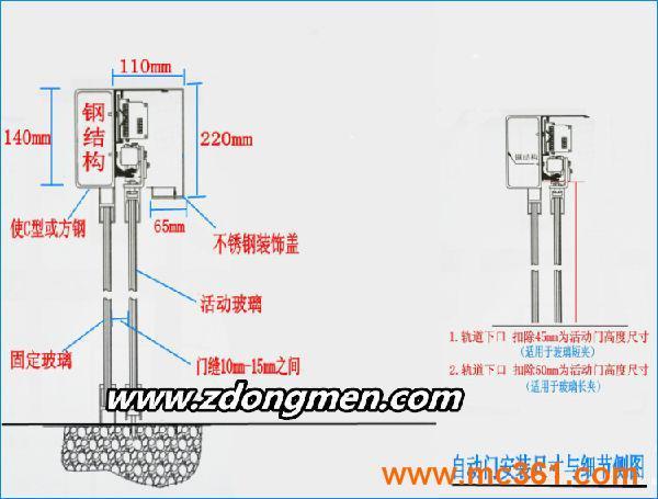 佛山自动门电动玻璃感应门自动平移门电机